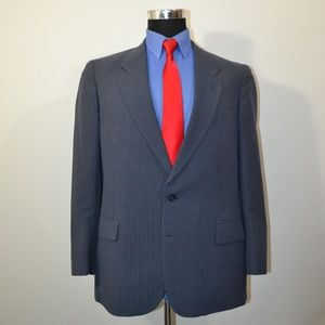 Calvert 44R Sport Coat Blazer Suit Jacket Dark Blu